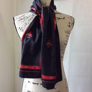 Accessories - Davis & Elkins College Black Red 1904 Soc Scarf